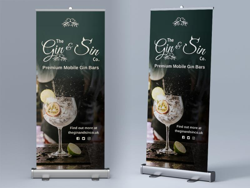 The Gin & Sin Co Roller Banners