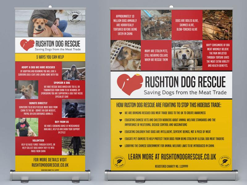Rushton Dog Rescue Banners