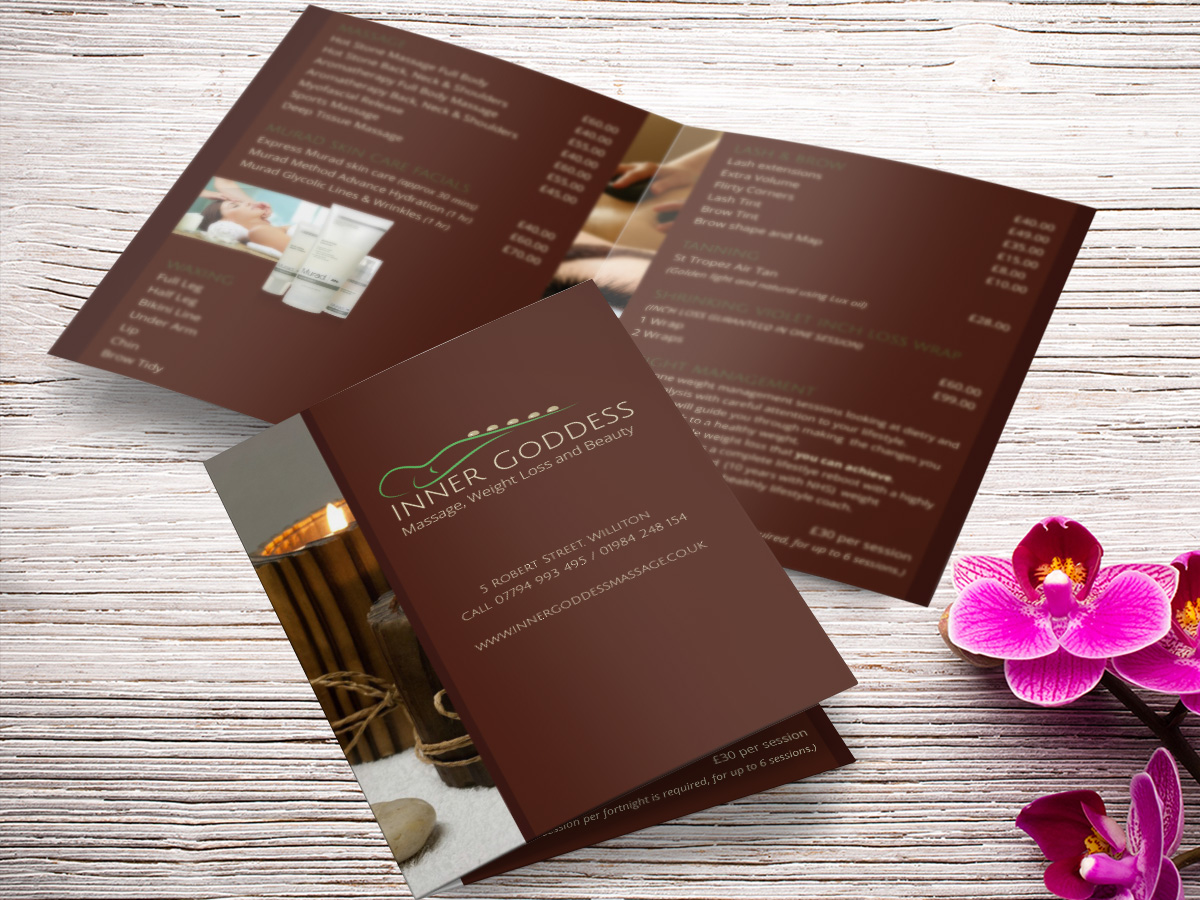 Price list design and print minehead somerset